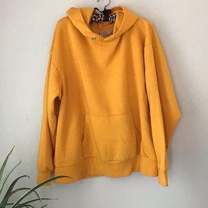 H&M Dividend mustard yellow hoodie sweatshirt